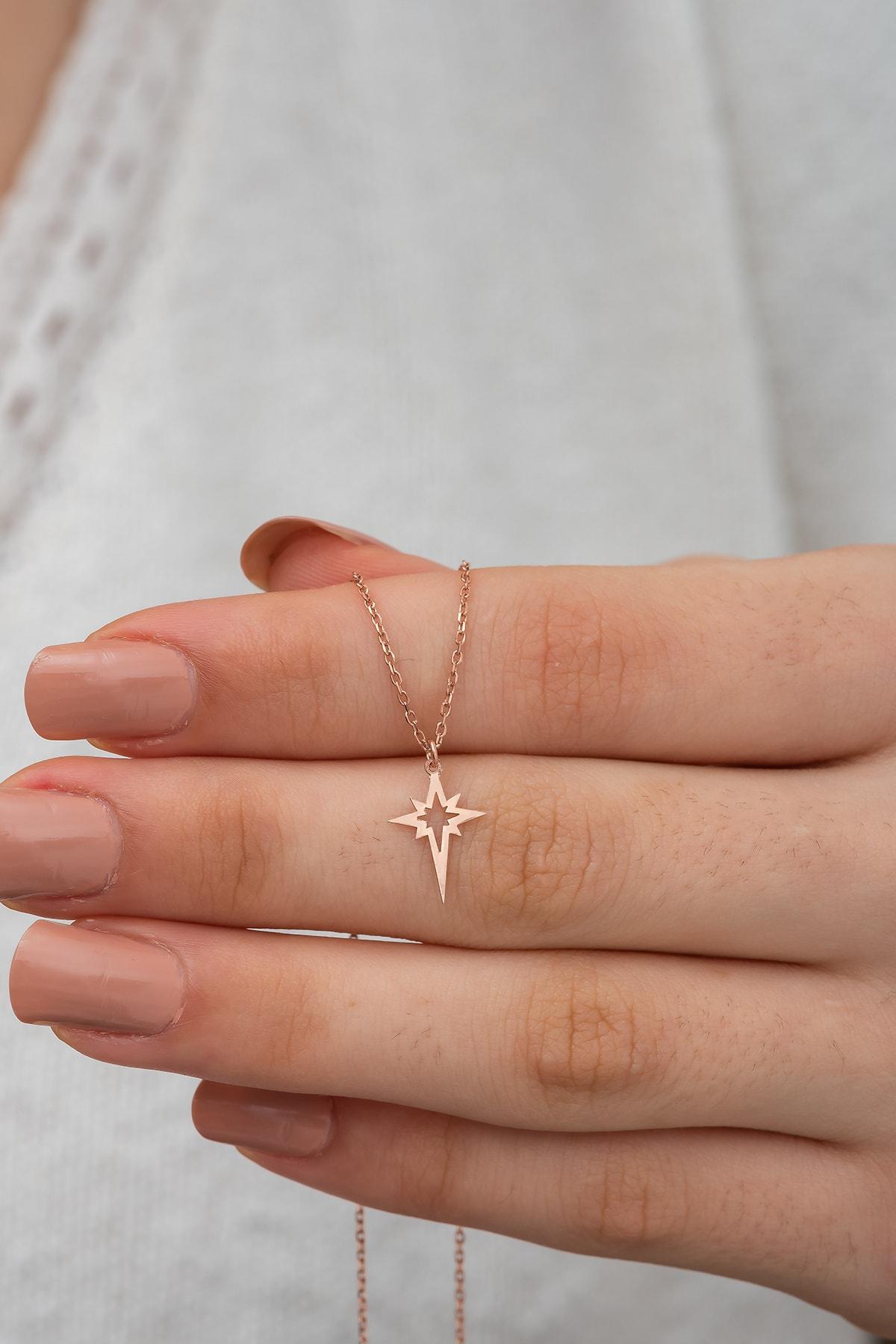 dzgsilver Gümüş Kutup Yıldızı Kolye Kutup Yıldızı Model Gümüş Kolye Dn469 1