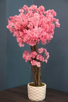 Yapay Çiçek Deposu Yapay Küçük Japon Bahar Dalı Ağacı 80 Cm Pembe