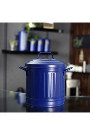 The Mia Kobalt Mavi Galvaniz Çöp Kovası Tezgah 4 lt