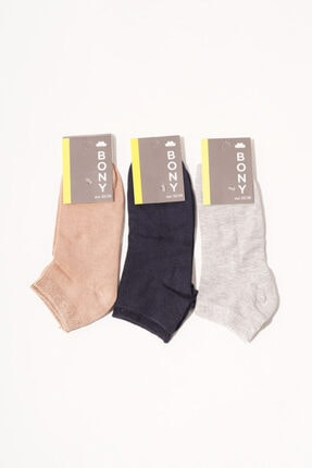 Katia&Bony Kadın Renkli 3'lü Step Çorap