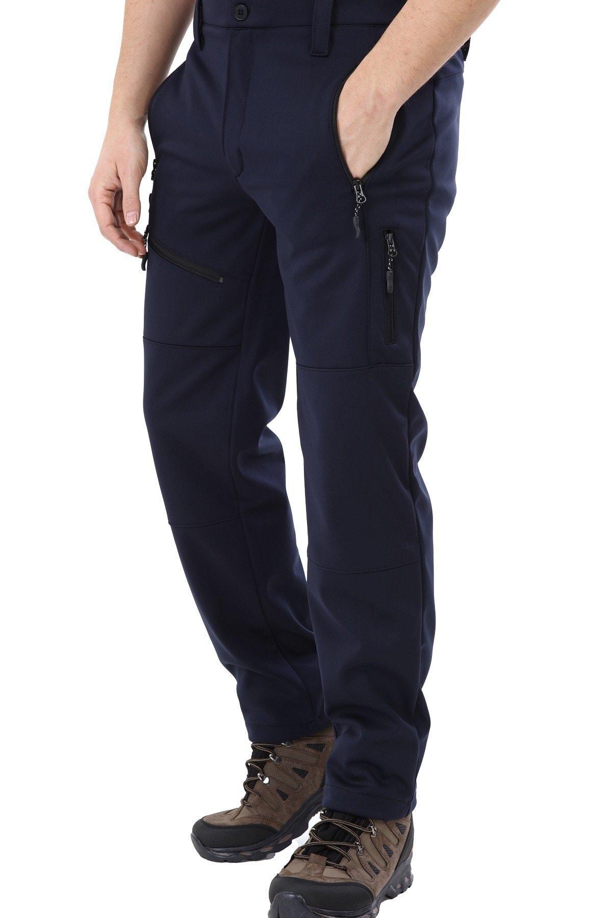 GHASSY CO. Erkek Tactical Outdoor Su Geçirmez Lacivert Softshell Pantolon 2