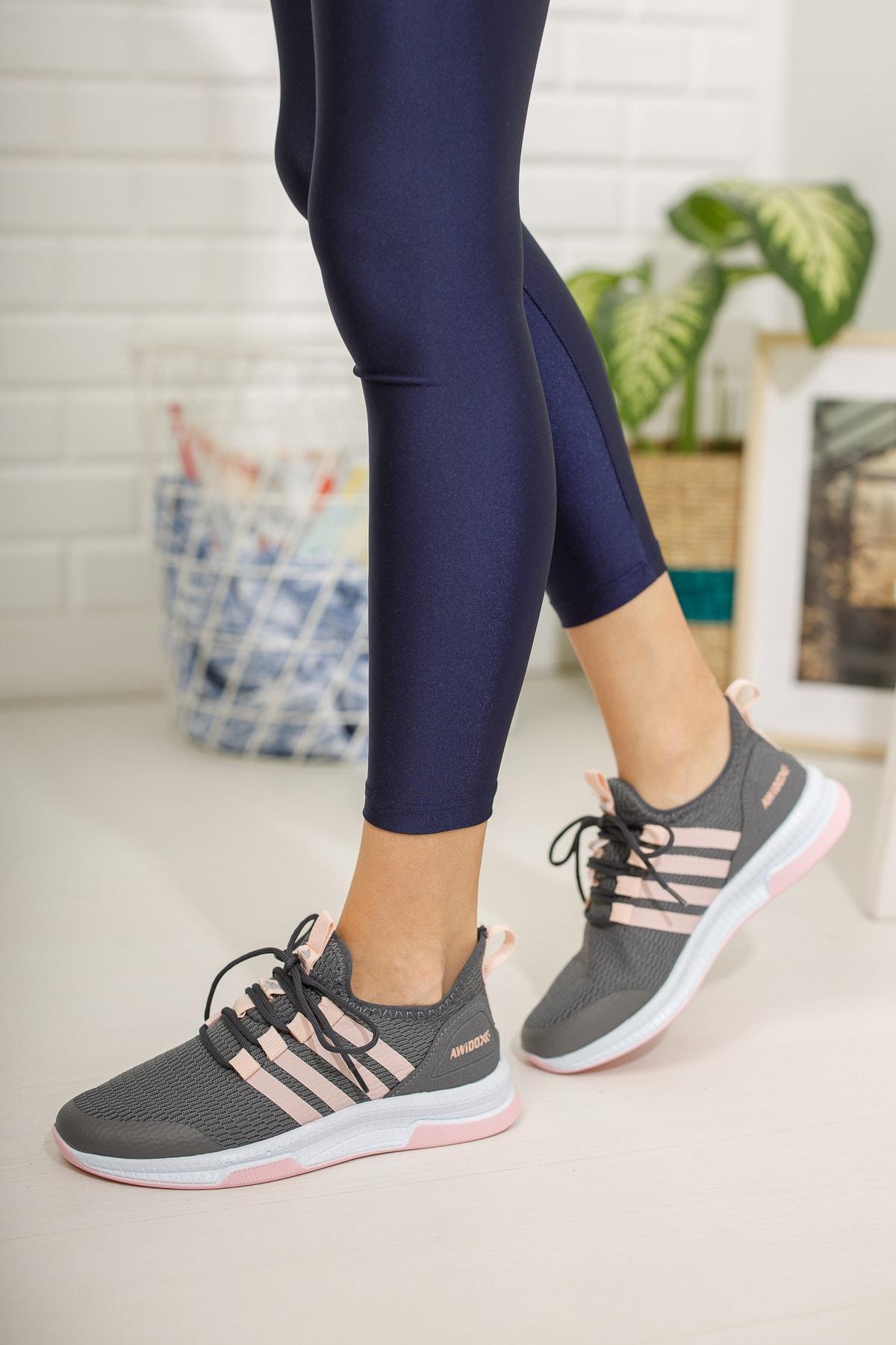 meyra'nın ayakkabıları Füme Pudra Kadın Sneaker 1