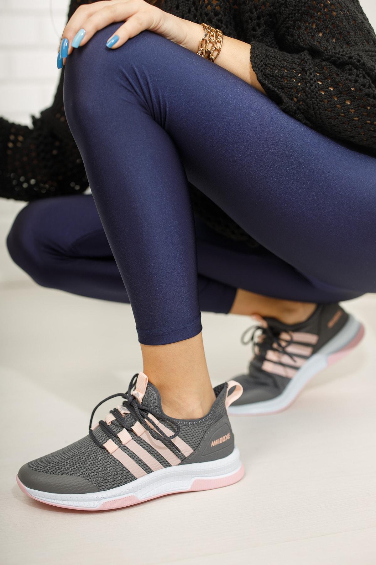 meyra'nın ayakkabıları Füme Pudra Kadın Sneaker 2