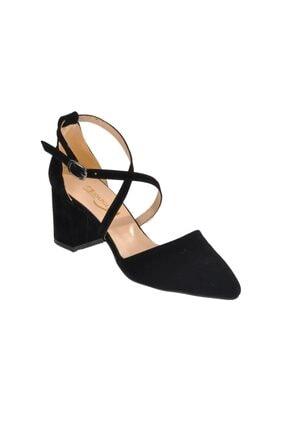 Maje 1901 Siyah Süet Kadın Topuklu Ayakkabı