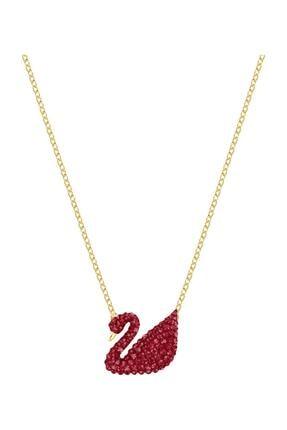 Swarovski Kolye Iconic Swan Pendant Red 5465400