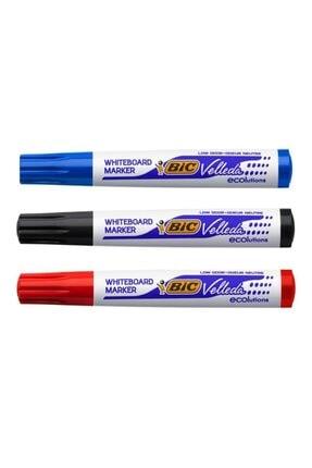 Bic Velleda Beyaz Tahta Kalemi 1 Siyah 1 Kırmızı 1 Mavi