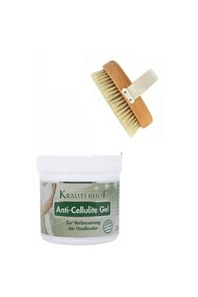 Krauterhof Anti-cellulite Gel 250ml + Ceylin %100 Doğal Masaj Fırçası