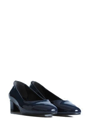 PUNTO Kadın Lacivert Günlük Topuklu Ayakkabı 544677