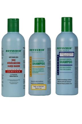 Novocrin Placenta Therapy Şampuan Seti 300 Ml * 3 Lü Set