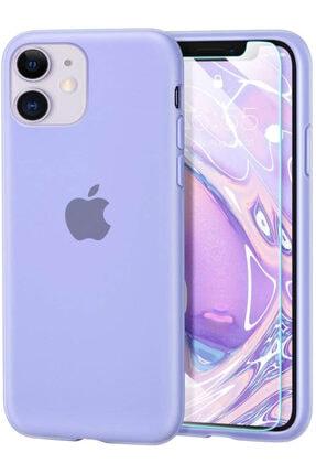 Escom Apple Iphone 11 Kılıf Velvet Içi Kadife Lansman Silikon Logolu