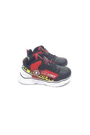 Jump Unisex Çocuk Siyah Boğazlı Spor Ayakkabı