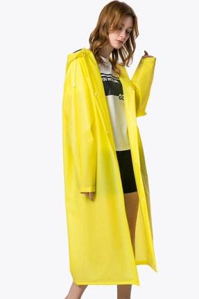 Arsimo Unisex Yağmurluk Kapüşonlu Sarı