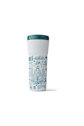 Starbucks ® 50. Yıl Özel Seri Termos - Beyaz Renkli 473 Ml