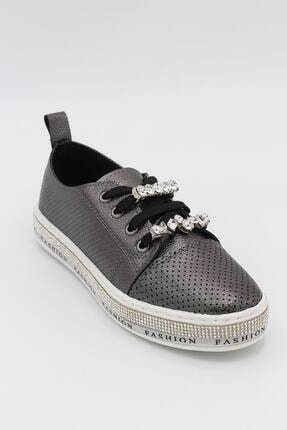 Markopark Kadın Taşlı Spor Ayakkabı Platin