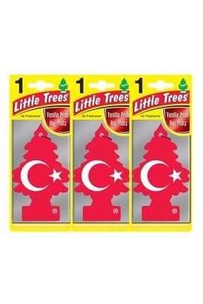 Car Freshner Little Trees Vanilla Pride Türk Bayrağı Oto Kokusu 3 Adet 55008 10411131