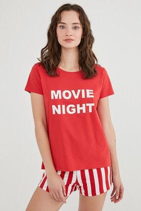 Penti Kırmızı Base Movie Pijama Takımı