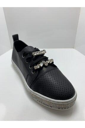 Markopark Kadın Taşlı Spor Ayakkabı Siyah