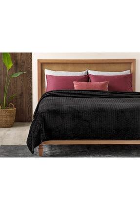 English Home Delicate Super Soft Çift Kişilik Battaniye 200x220 Cm Siyah
