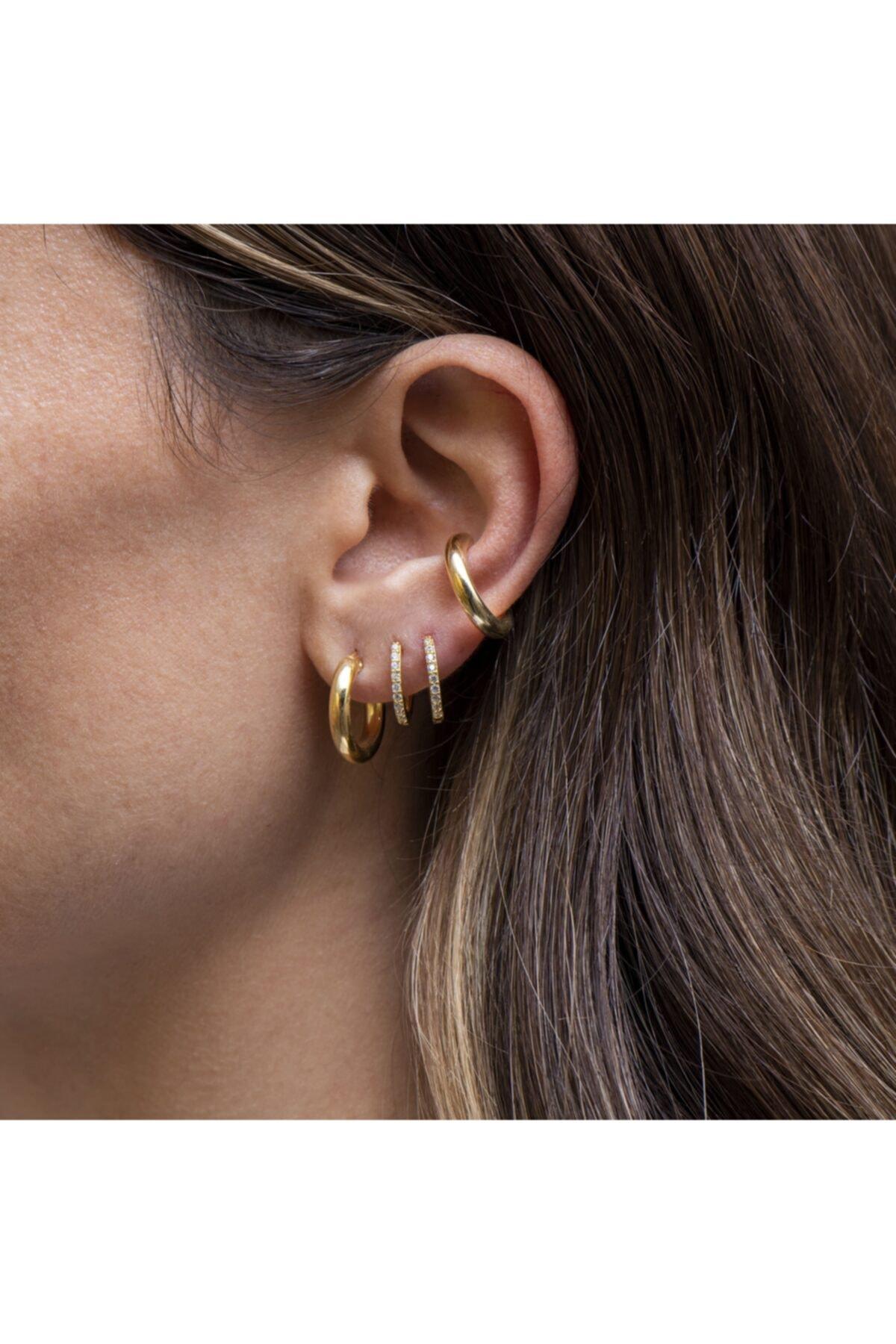 Adonia Jewels Minik Kalın Halka Küpe 1,5 Cm 2