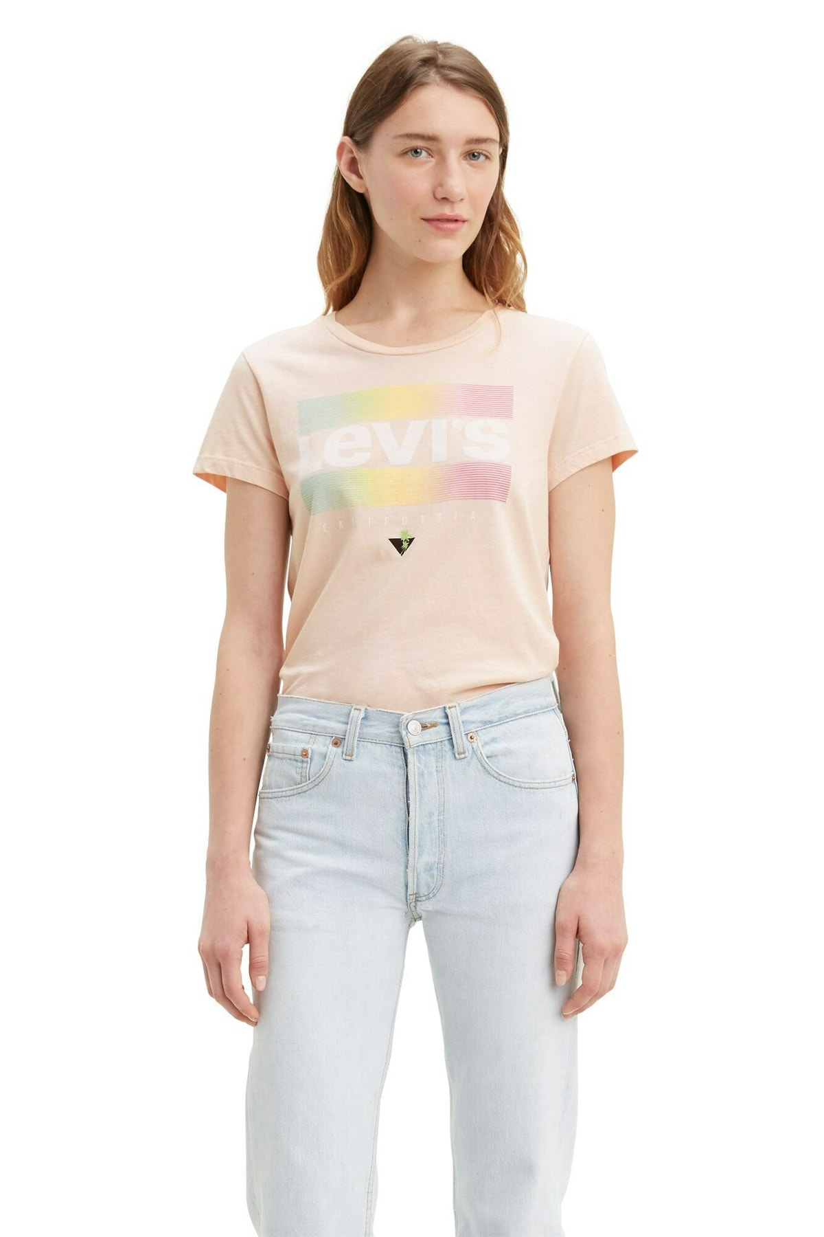 Levi's Kadın Pembe The Perfect T-shirt 17369-0832 1
