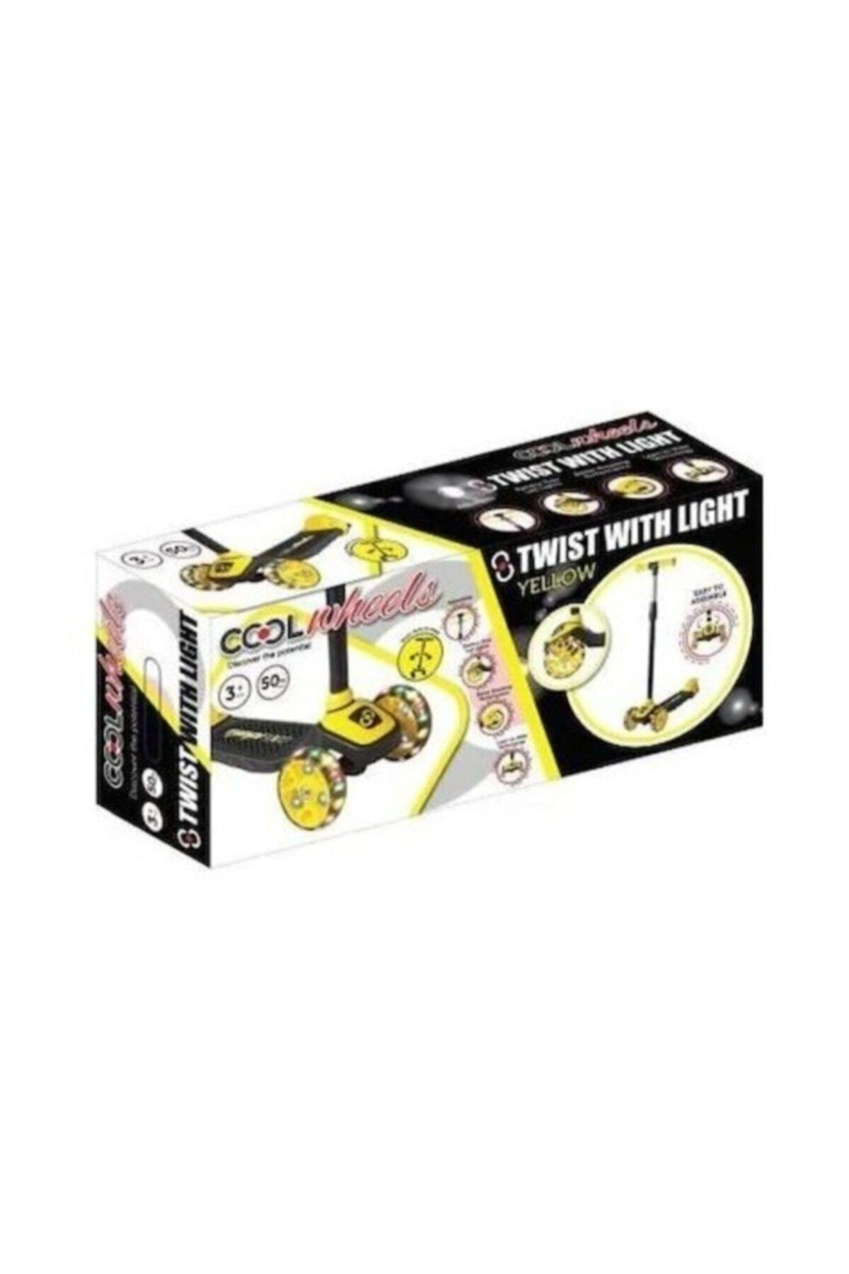 Furkan Scooter Cool Wheels Twist Işıklı Sarı 2