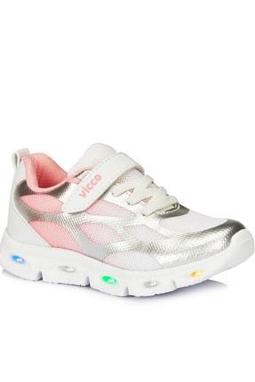 Vicco Kız Bebek Woo Gümüş Rengi Spor Ayakkabı