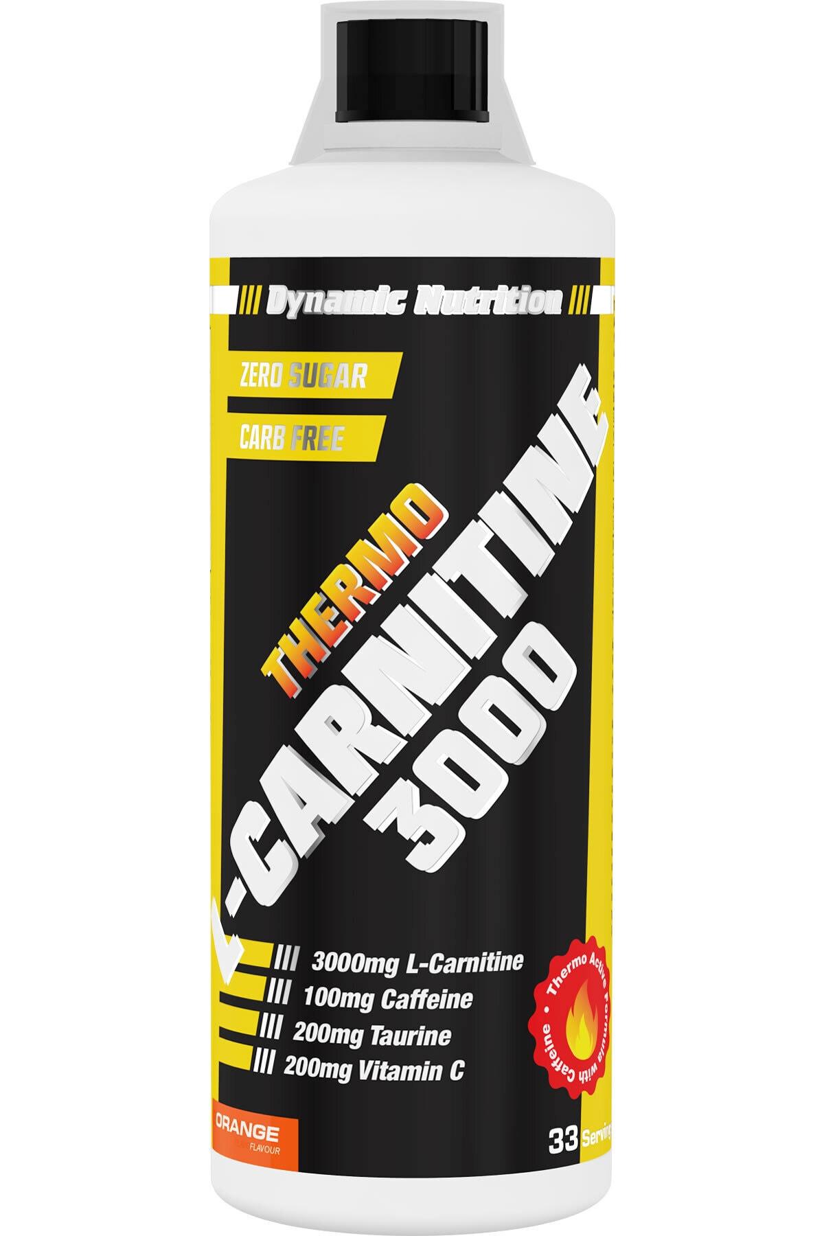 Dynamic Nutrition Dynamic Thermo L-Carnitine 3000 mg 1000 ml + CLA 90 Kapsül + 3 HEDİYE 2