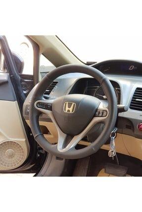 M&R OTO KILIF AKSESUAR Honda Cıvıc Fd6 Araç Için Çift Desenli I Deri Araç Direksiyon Kılıfı