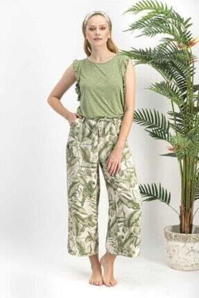 Arnetta Kadın Amazon Tropical Ekru Pijama Takımı