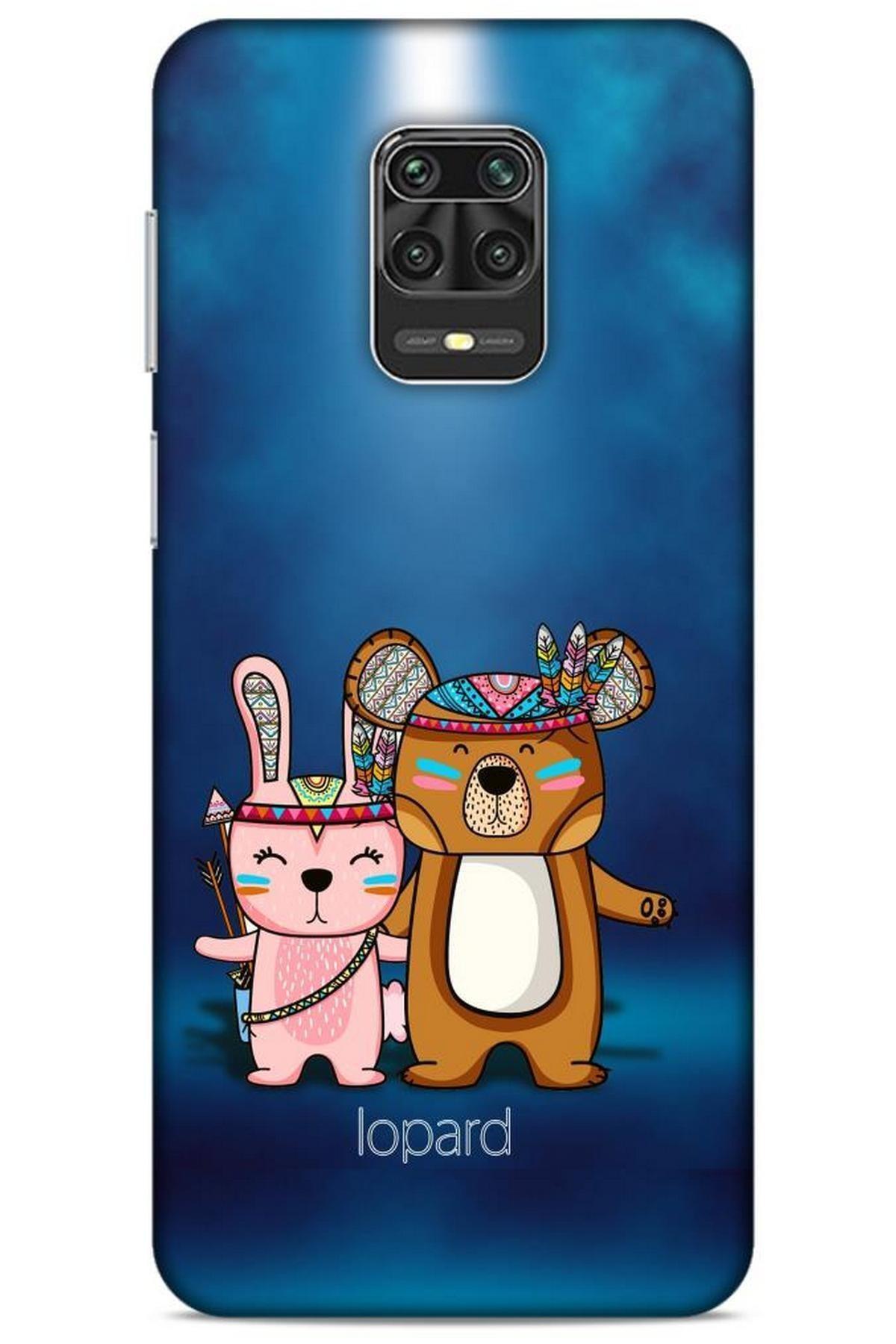Lopard Xiaomi Redmi Note 9 Pro Kılıf Funnymax (2) Kabı Lacivert Beyaz 1