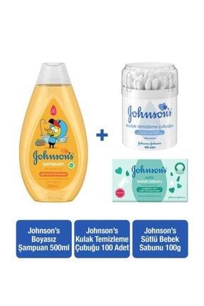 Johnson´s Baby Johnson's Baby Kral Şakir Gold Şampuan 500ml+kulak Temizleme Çubuğu 100 Adet+sütlü Katı Sabun 100 Gr