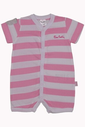 Pierre Cardin Baby Kız Bebek Kısa Tulum Pembe