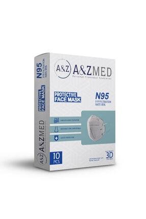 A&Z Med N95 Ffp2 Maske Telli Ve Tek Tek Paketli 10 Adetlik 1 Kutu - Toplam 10 Adet Maske