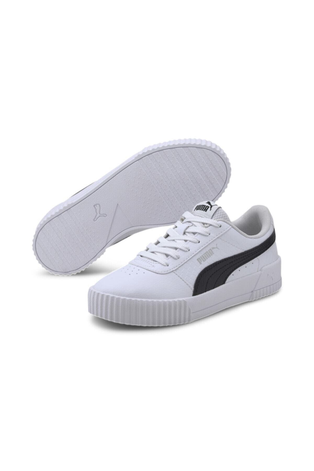Puma Carina Snake Jr Unisex Siyah Beyaz Sneaker 2