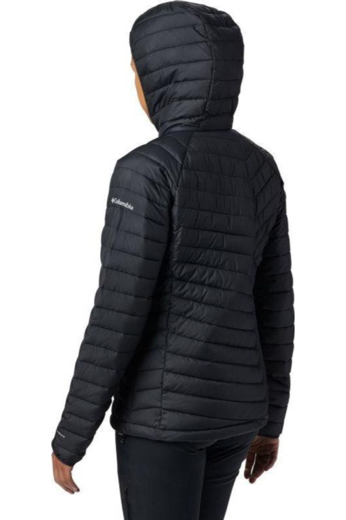 Columbia WK1499-011 Powder Lite Hooded Jacket Kadın Mont 2