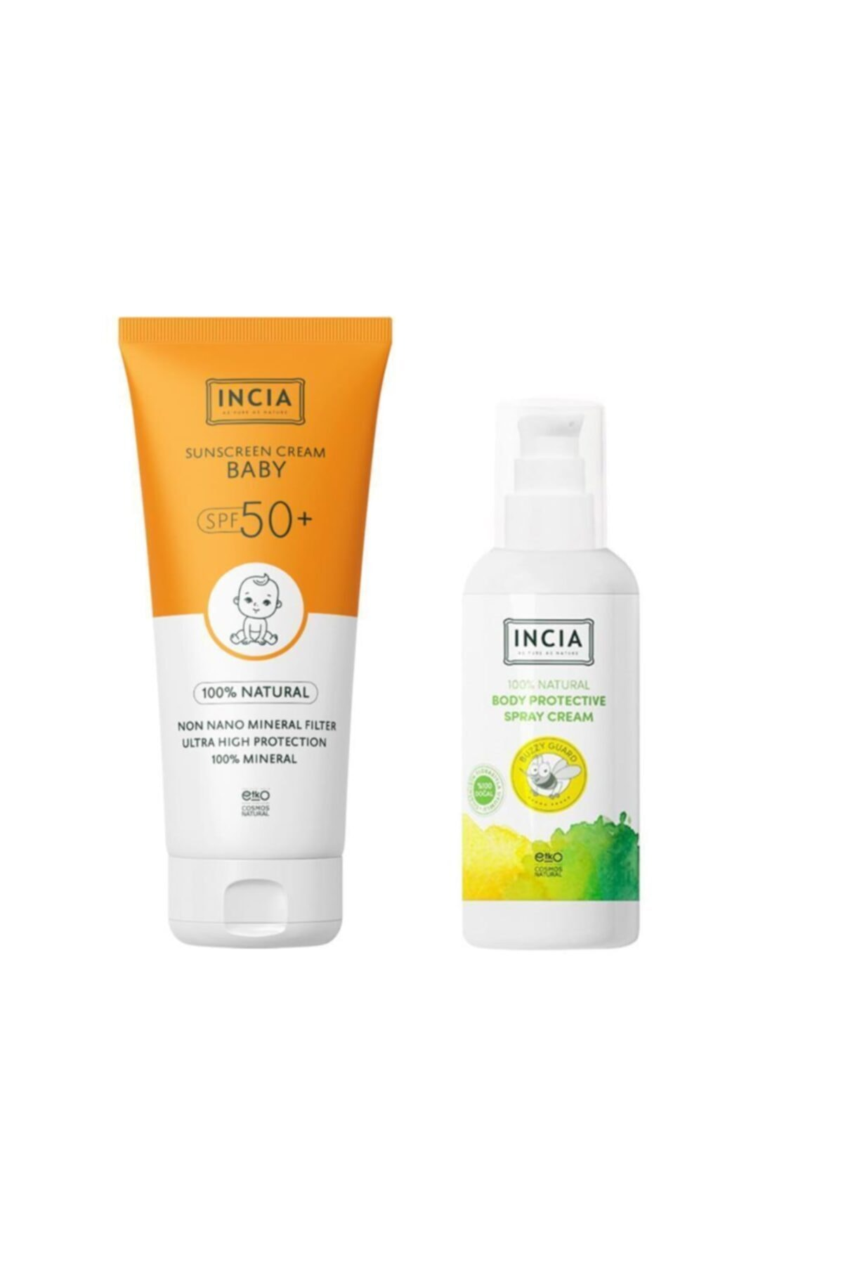 Incia %100 Doğal Bebek Güneş + Koruyucu Vücut Losyonu 100 ml 1