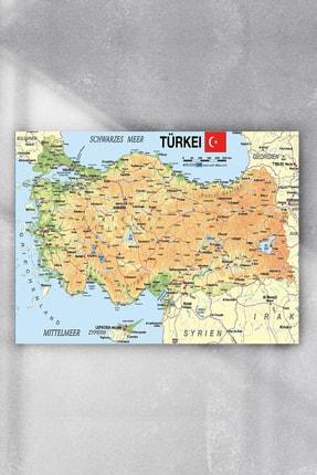 Postermanya Türkiye Haritası Eğitim Posteri 4 (50x70cm)