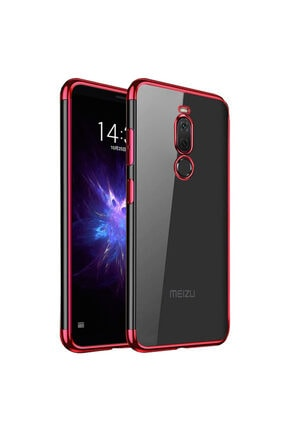 Meizu Microsonic Note 8 Kılıf Skyfall Transparent Clear Kırmızı