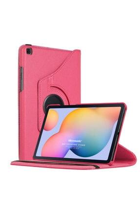 "Samsung Microsonic Galaxy Tab S6 Lite 10.4"" P610 Kılıf 360 Rotating Stand Deri Pembe"