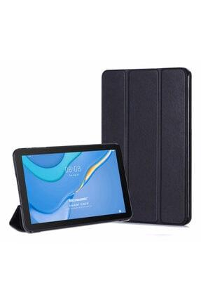 Huawei Microsonic Matepad T10 Kılıf Slim Translucent Back Smart Cover Siyah