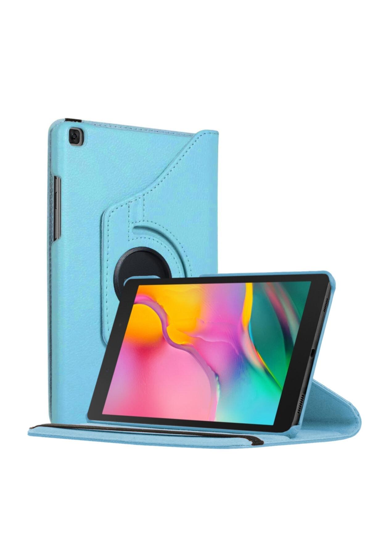 "Samsung Microsonic Galaxy Tab A 8"" 2019 T290 Kılıf 360 Rotating Stand Deri Mavi 1"