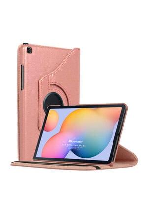 "Samsung Microsonic Galaxy Tab S6 Lite 10.4"" P610 Kılıf 360 Rotating Stand Deri Rose Gold"