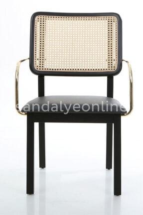 Sandalye Online Cuorela Kolçaklı Lüks Hazeran Gold Sandalye