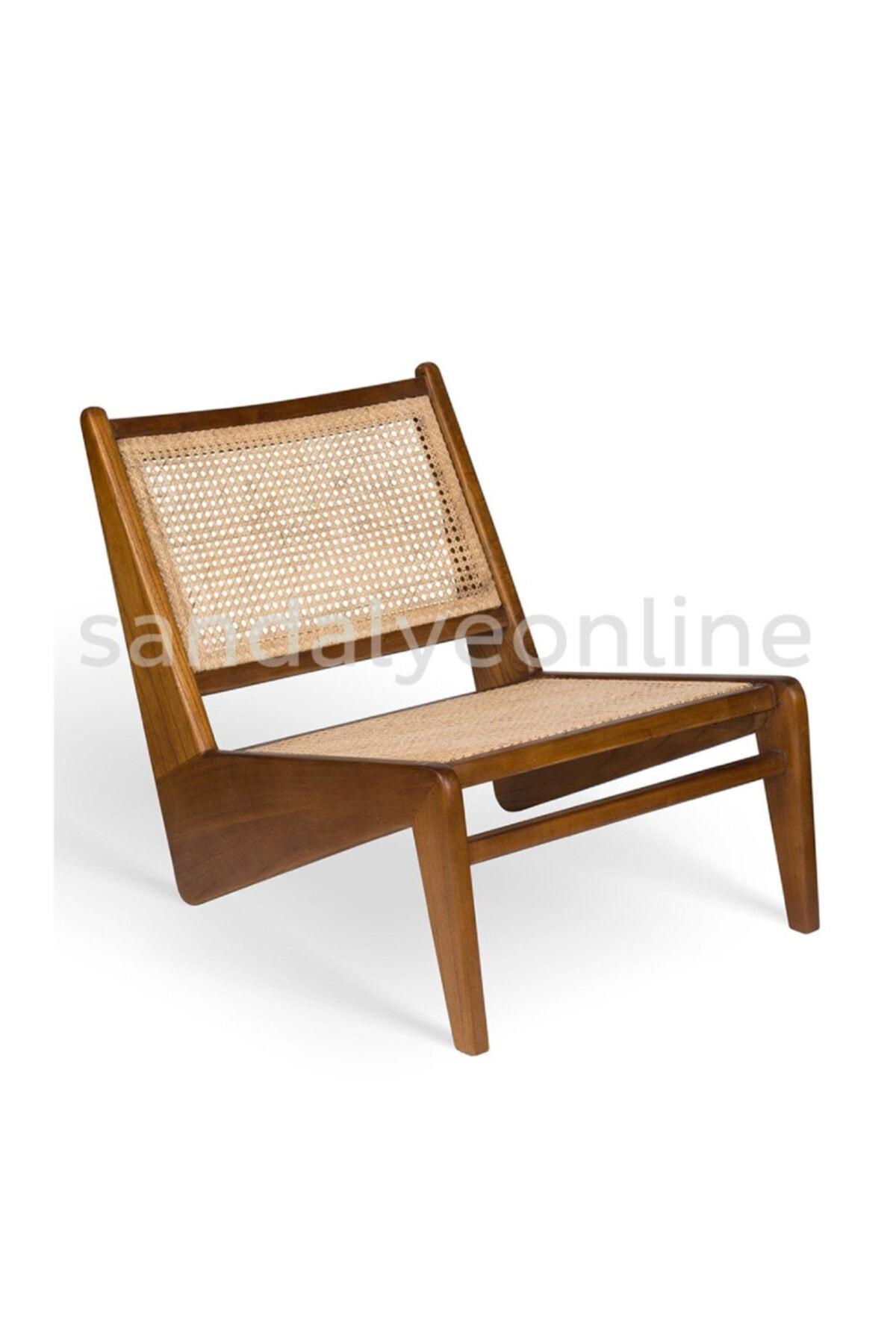 Sandalye Online Kanguru Ahşap Hazeran Tasarım Berjer 1