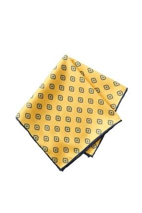 ALTINYILDIZ CLASSICS Erkek Sarı Desenli Cep Mendili