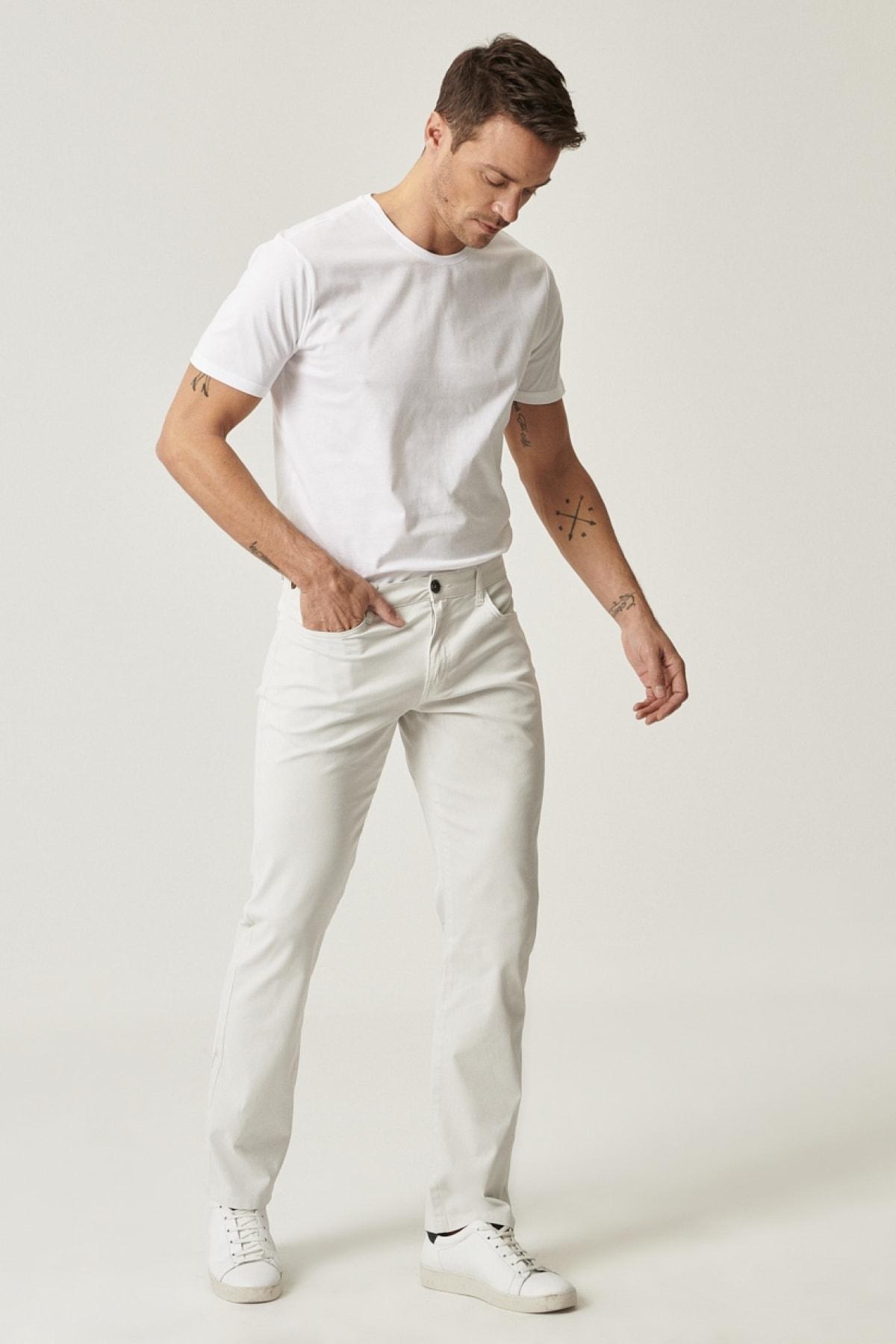 ALTINYILDIZ CLASSICS Erkek Taş Regular Fit Desenli Pantolon 2