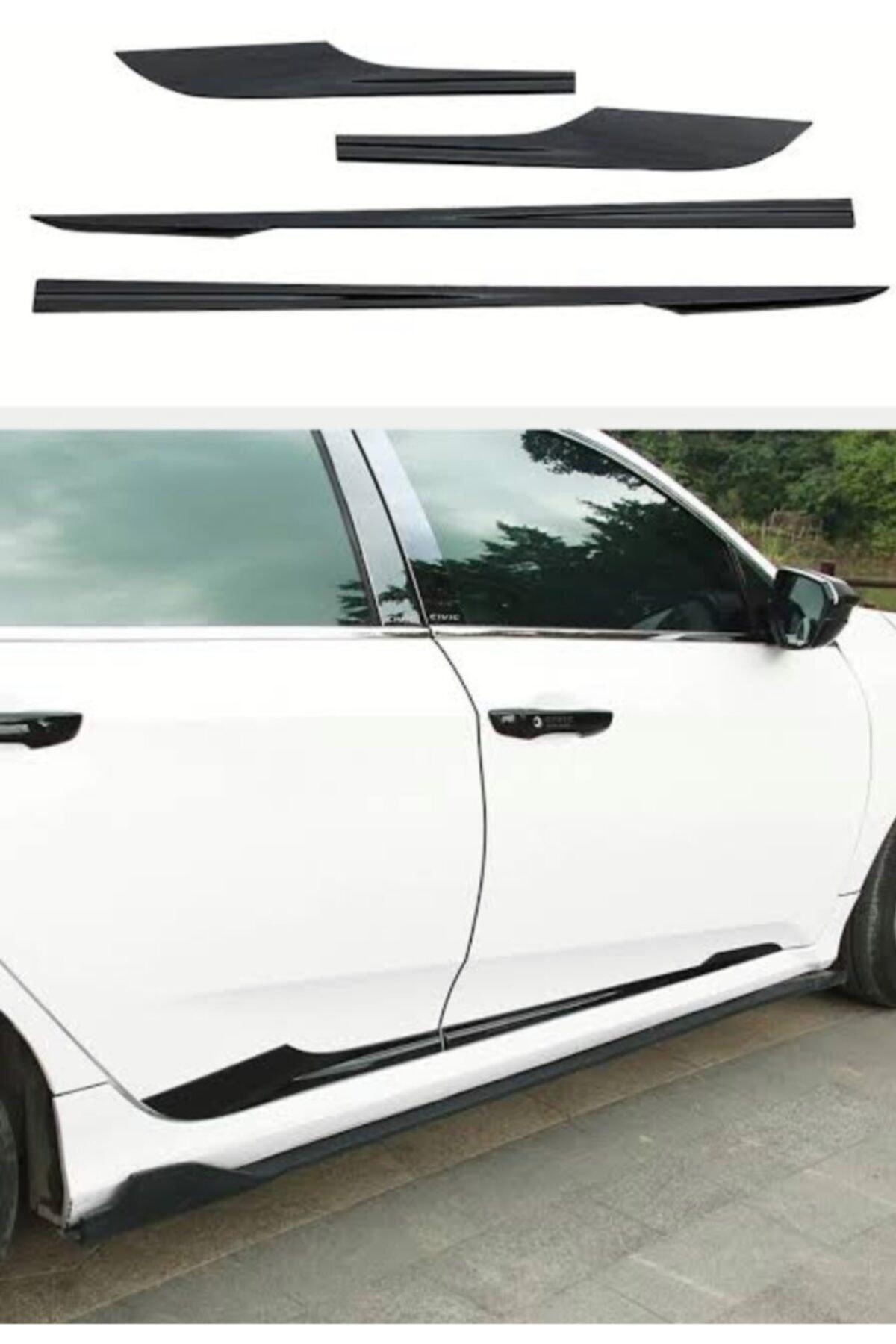 Universal Honda Civic Kapı Çıtası (16-20) Pianoblack 1
