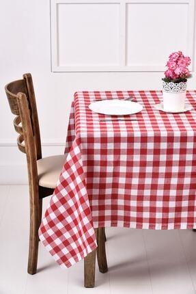 ikiparça Kırmızı Büyük Kare Desen Pötikareli Masa Örtüsü, Sofra Bezi, Piknik Örtüsü