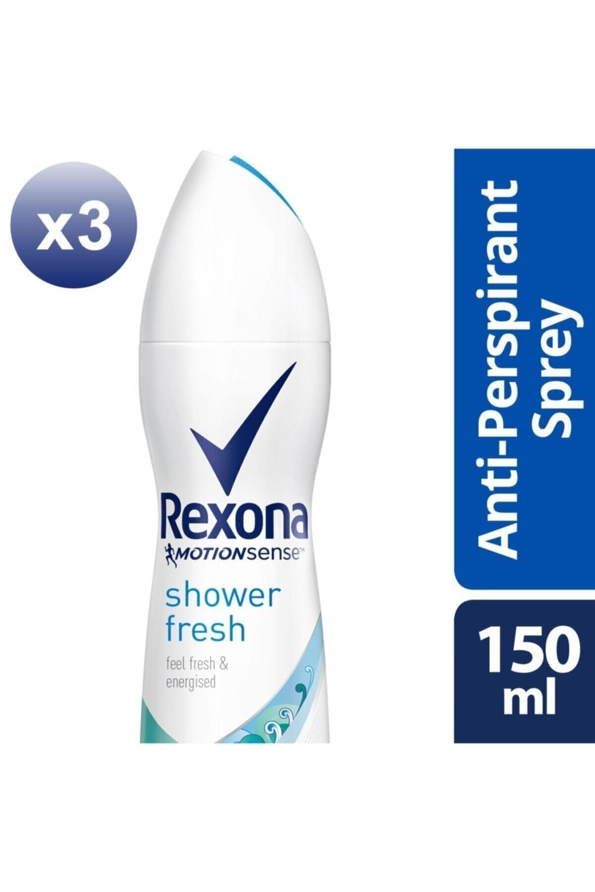 Rexona Kadın Deodorant Sprey Shower Fresh 150 ml X3 1