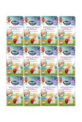 Hero Baby Hero Baby 200 Gr Gece Sütlü 8 Tahıllı Elmalı Kaşık Mama 12 Li Paket
